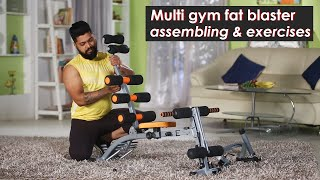 Home Gym and Bike Assembling and Exercises | Full body Home Workout Equipment | Zukazo