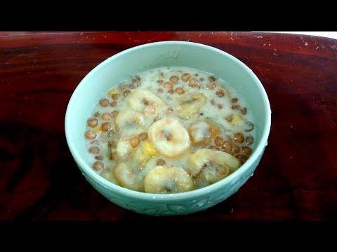 FILIPINO GINATAANG SAGING NA SABA WITH SAGO EASY RECIPE MERIENDA (Banana in coconut milk snack)