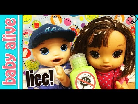 Baby Alive gets LICE from school! Will it spread?😭Does Baby Alive Brother help or tease her? Gross!