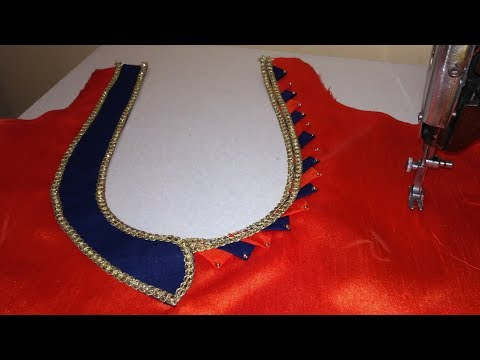 Latest Back neck design// Patch work neck design