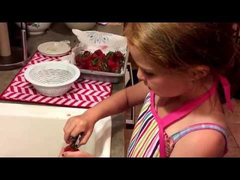 How to clean and hull fresh picked strawberries