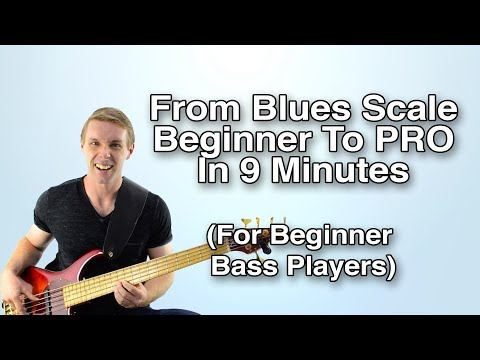 Bass Players! Go from blues scale BEGINNER to blues scale PRO in 9 minutes