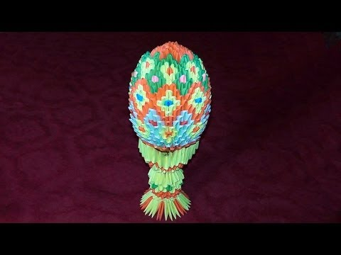 3D origami Easter egg master class (Faberge Egg of paper) tutorial