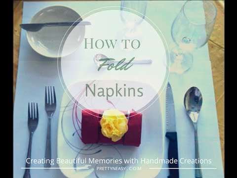 3 ways to fold napkins to dress up the table - Pretty n Easy