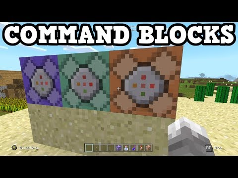 Minecraft Xbox One - All 3 Command Block TUTORIAL