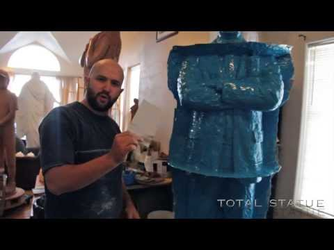Total Statue Vlog | Making a Statue Mold | How to make a mold