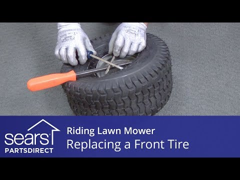 Replacing a Front Tire on a Riding Lawn Mower
