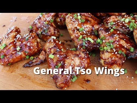 General Tso Wings | Grilled Chicken Wings with General Tso Sauce on Yoder Pellet Smoker