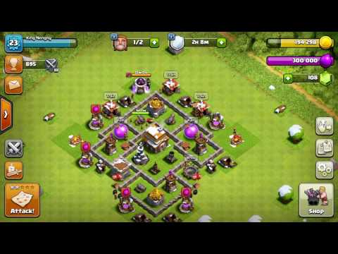 How to restart your base on clash of clans.  King Nengny 