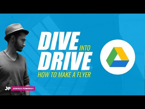 Dive Into Drive: How to Make a Flyer