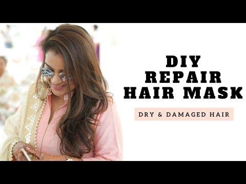 DIY Repair Hair Mask For Dry and Damaged Hair | Aarushi Jain