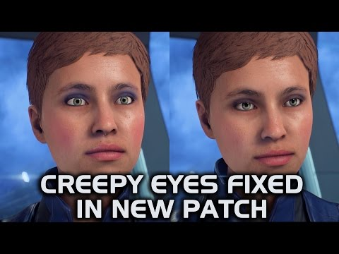 Mass Effect Andromeda - Creepy Eyes Fixed in New Patch (Before & After Comparison)