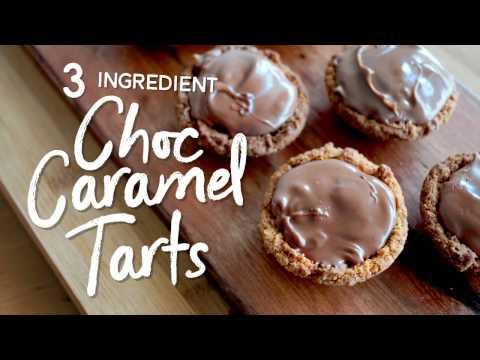 3 Ingredient Choc Caramel Tarts