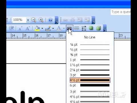 Microsoft Office Publisher 2003 Remove a border