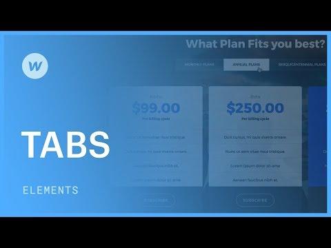 Building responsive tabs - Web design tutorial