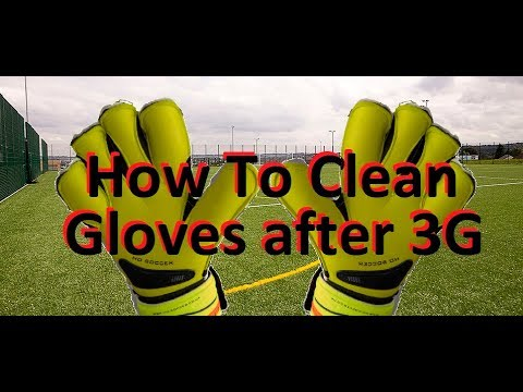 How to Clean Goalkeeper Gloves after use on 3G | How Should I Wash the Black off my Goalie Gloves ?