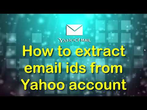 How to extract email addresses from yahoo inbox?