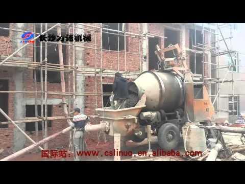 C3 concrete mixer with pump for building project
