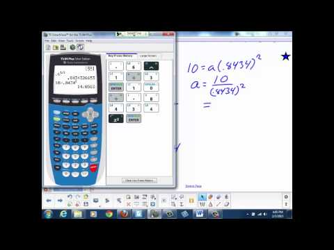 Determining an Exponential Equation Given 2 Points