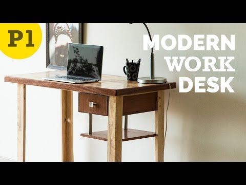 Modern style work desk – How to Build
