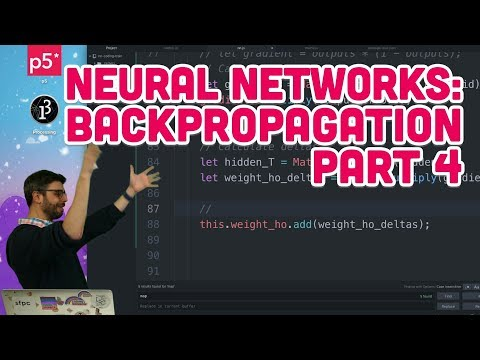 10.17: Neural Networks: Backpropagation Part 4 - The Nature of Code