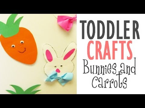 Toddler Crafts #01: Bunnies and Carrots.