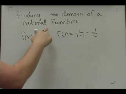 Finding Domain of Functions