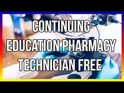 Continuing Education Pharmacy Technician Free