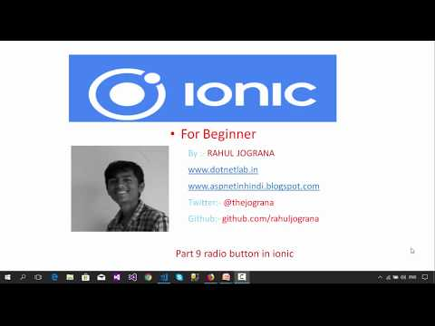 Part 9 radio button in ionic