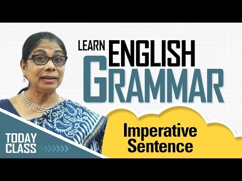 Learn English Grammar | Imperative sentence | Basic English Grammar for kids