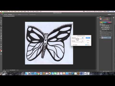 Improving your scanned image using photoshop