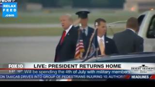 trump misses his limo