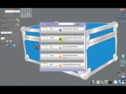 Flightcase-Berechnung Penn Elcom CaseDesigner - changing parts 1