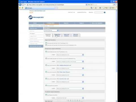 Managed Anti Spam - Email Services - Configuration