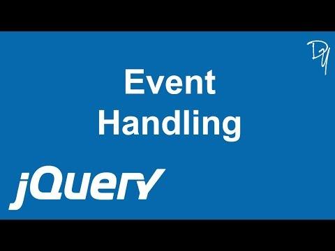 jQuery - Event Handling #11