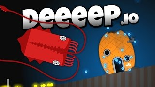 Deeeep.io - The Amazing Giant Squid! - New Animals! - Let's Play Deeeep.io Gameplay