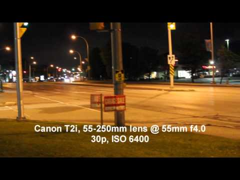 Low light video tests, Sony HX5 & Canon T2i