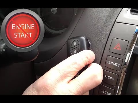 Starting a push button start car with a dead key fob or smart key battery.