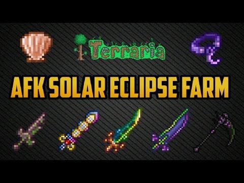 Terraria ios 1.2.4 | AFK Solar Eclipse farm (Working 2017) Easiest method