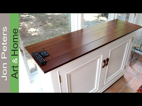How To Build A TV Lift Cabinet, Making the Top