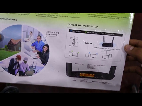 AC750 Wireless Dual Band 4G LTE Router (Archer MR200) UNBOXING