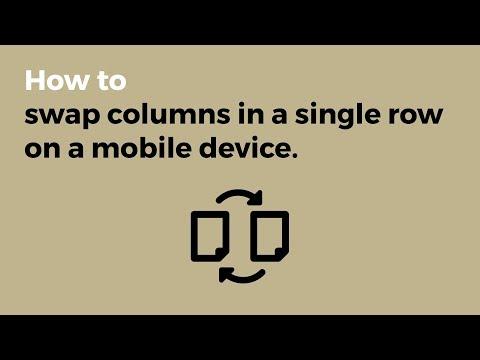 Swap Columns on Mobile Using Flex!