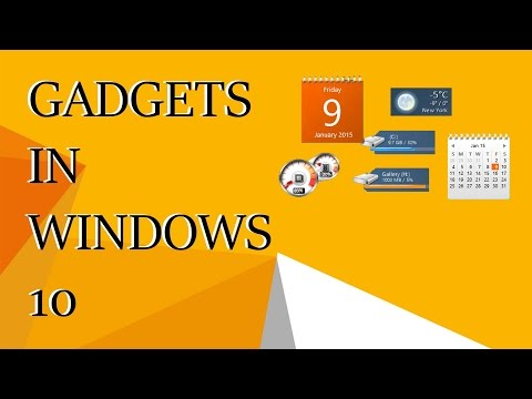 Enable Desktop Gadgets In Windows 10