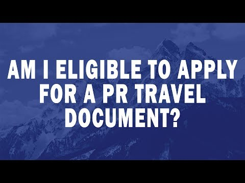 Am I eligible to apply for a PR travel document?