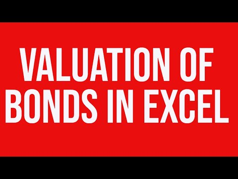 Valuation of Bonds in MS-Excel