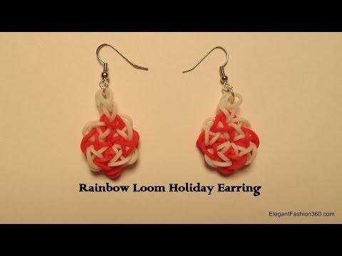 Rainbow Loom Earring Jewelry matching set
