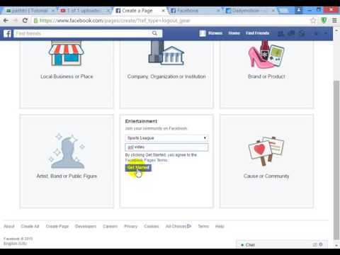 how to create facebook page for sports