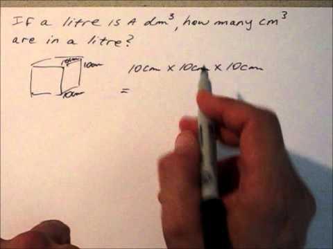 cubic centimetres in litre