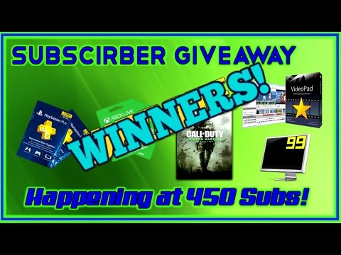 Thank You For 500 SUBS! Winners + Lets Now Push To 1000! Thanks So Much Everyone!