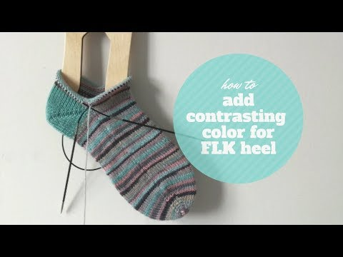 How to add contrasting color for FLK heel